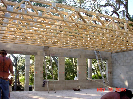 Jojac services floor joists for Pre engineered trusses